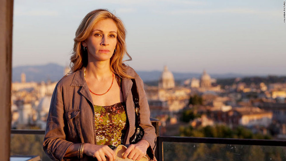 "Based on Elizabeth Gilbert's memoir, Roberts stars alongside Javier Bardem in 2010's ""Eat Pray Love."" The romantic drama follows Roberts' character as she travels to Italy, India and Bali."