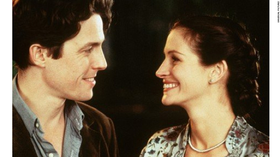 """Notting Hill"" wasn't too far of a departure for Roberts, who plays a Hollywood actress in the 1999 film. She stars alongside Hugh Grant, who plays a bookshop owner, in the romantic comedy."