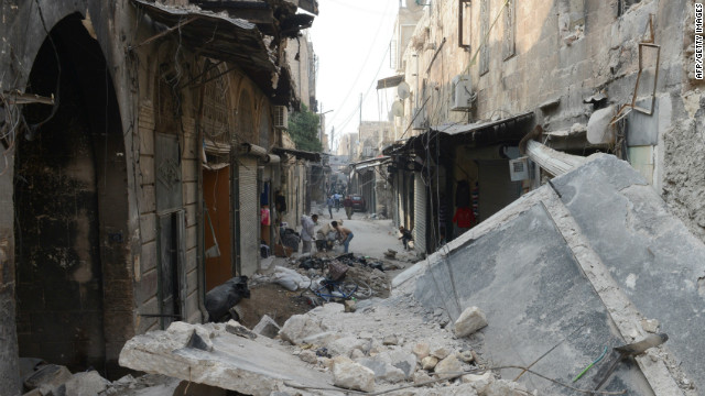 Fighting continued across Syria Tuesday (October 23, 2012), including in the northern city of Aleppo pictured.