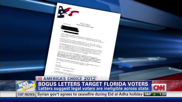 Bogus letter sent to voters