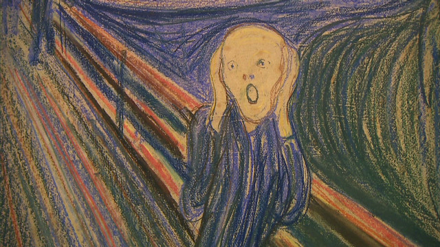 "Edvard Munch's ""The Scream"" is on display in Manhattan's Museum of Modern Art."