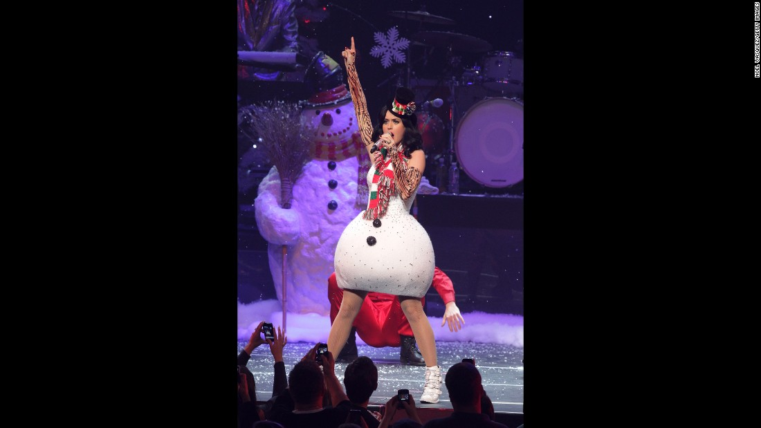 There's a good chance Perry wasn't worried about her hips looking too big in the snowman dress she wore at KIIS-FM's Jingle Ball in December 2010.