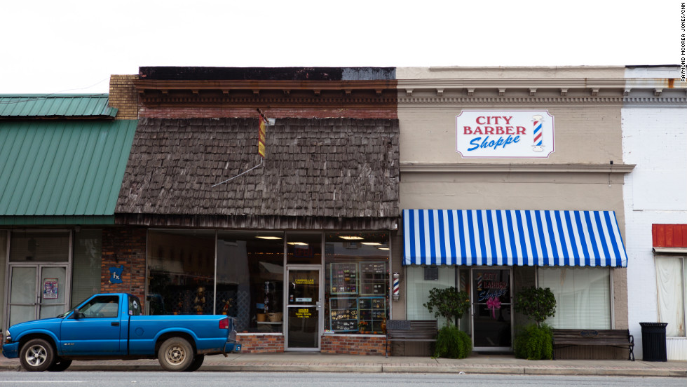 Downtown Baxley, with its small businesses and boarded-up storefronts, is not unlike other towns in Barrow's congressional district.