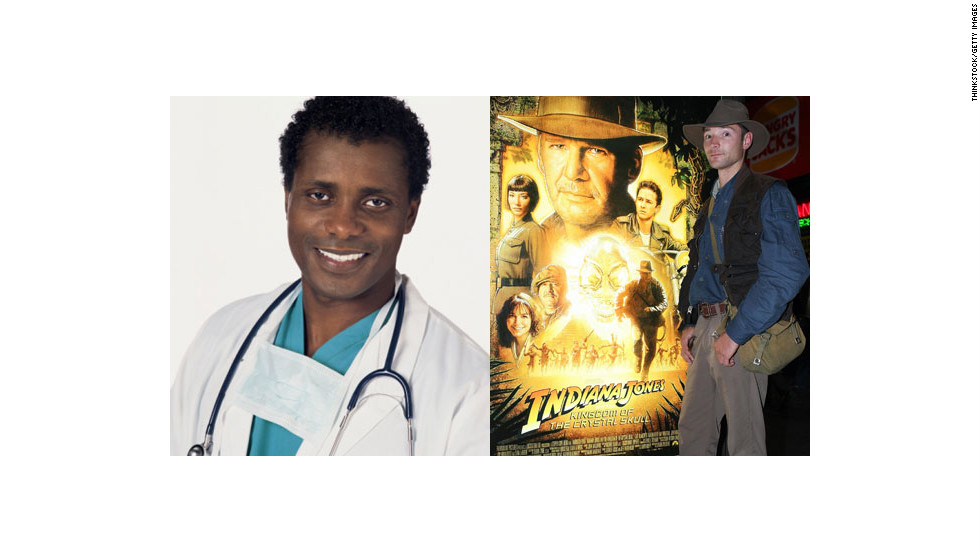 Did you know Indiana Jones is a doctor? (Half-pint did.) Make it explicit with this costume: Combine scrubs, a surgeon's mask, a stethoscope and a bullwhip.