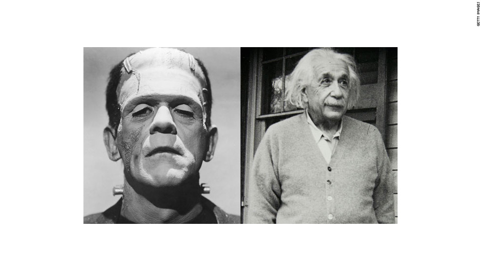 Put some brains back in this classic Halloween costume by combining Frankenstein's monster with Einstein.