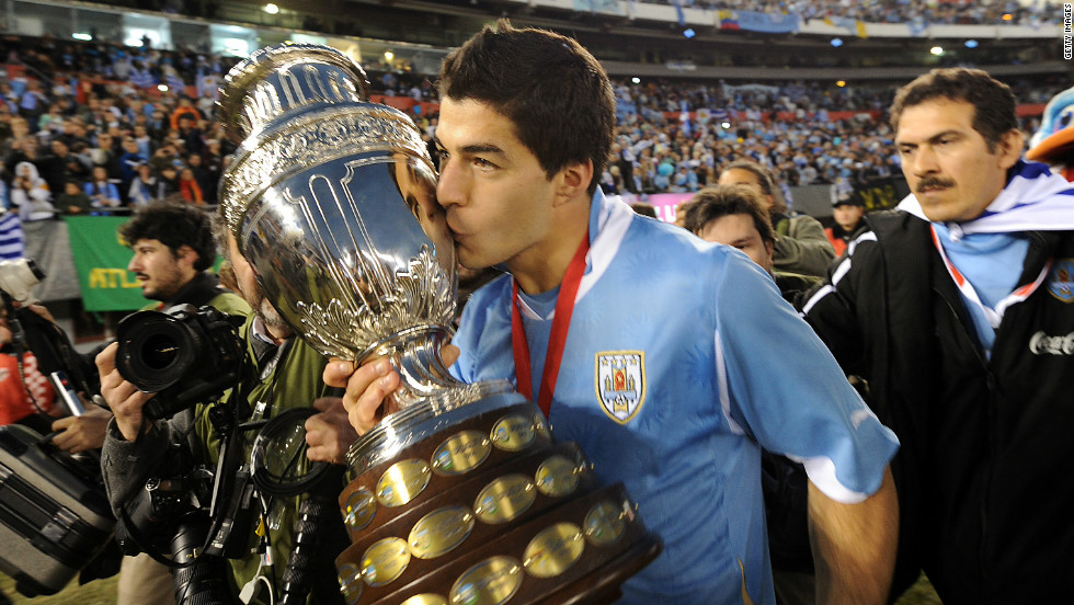 Suarez helped Uruguay win the 2011 Copa America, a year after finishing fourth at the World Cup. He will be hoping to impress again at Brazil 2014.
