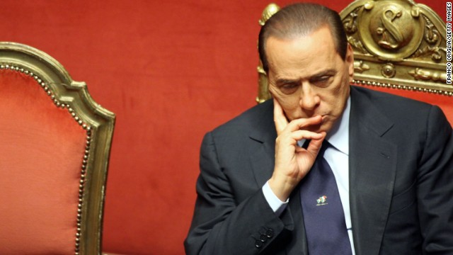 Berlusconi listens during a debate at the Senate on December 13, 2010 in Rome, Italy.