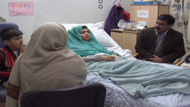 Malala's emotional family reunion in UK