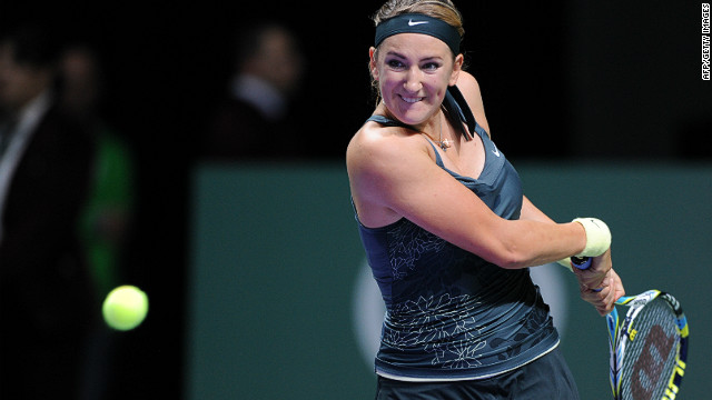Victoria Azarenka will finish 2012 as the world's top ranked female tennis player