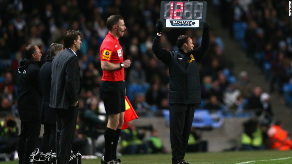 The match was the longest in Premier League history due to two lengthy delays for injuries. While 12 minutes were added on, almost 13 were played -- for a total of 102 and 43 seconds that beat the previous longest in 2011 between Arsenal and Liverpool. 7, 2012 in Manchester, England.