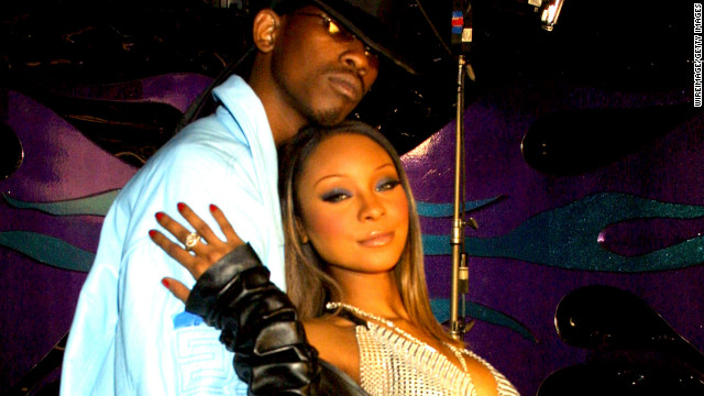 Natina Reed, shown in 2001 with hip hop artist Kurupt in Downey, California.