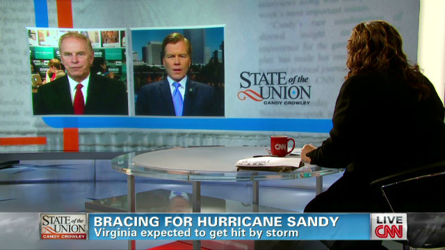 Virginia on alert for Hurricane Sandy