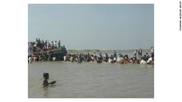 Some fled from the violence by boat