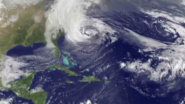 Watch the evolution of the superstorm