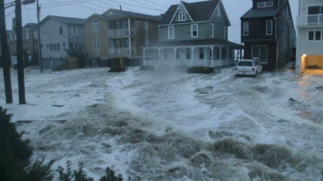 Massive waves wash over New Jersey homes