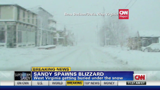 Sandy spawns blizzard in West Virginia