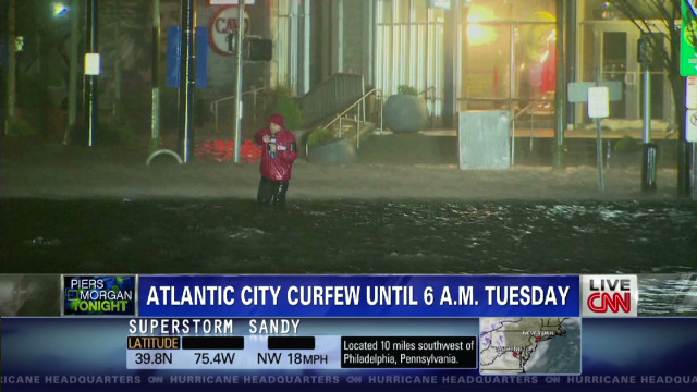 Atlantic City downtown: 'River of water'