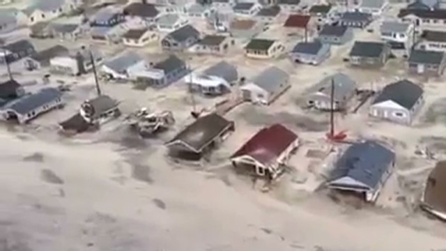 Homes damaged along New Jersey coastline