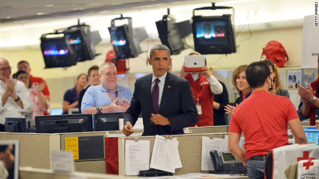 Obama vows relief for Sandy victims