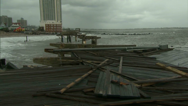 Sandy ravages Atlantic City boardwalk