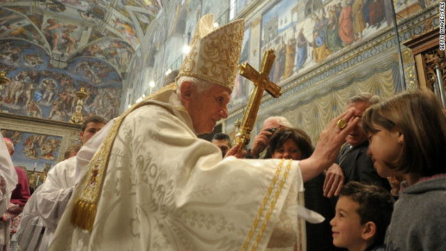 VATICAN CITY, VATICAN - JANUARY 8:  Pope Benedict XVI celebrates baptisms in the Sistine Chapel on January 8, 2012 in Vatican City, Vatican.  (Photo by L'Osservatore Romano Vatican-Pool/Getty Images)