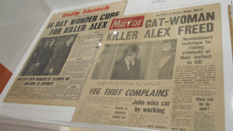 "Kubrick insisted on attention to detail, as these realistic prop newspapers from ""A Clockwork Orange"" illustrate."