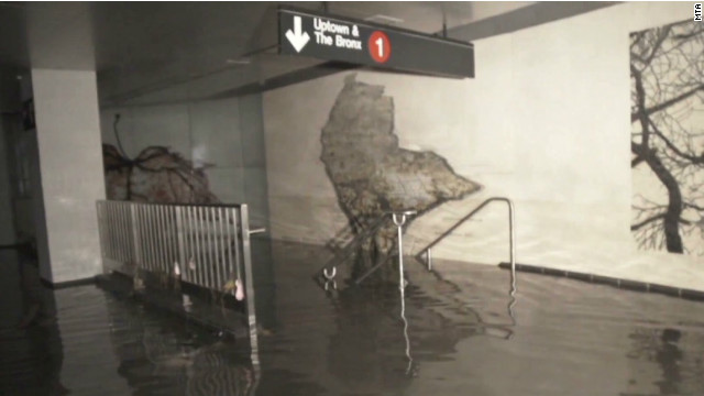 See submerged subway in Manhattan