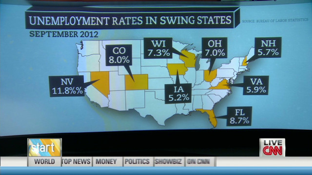 Swing state jobless could shape election