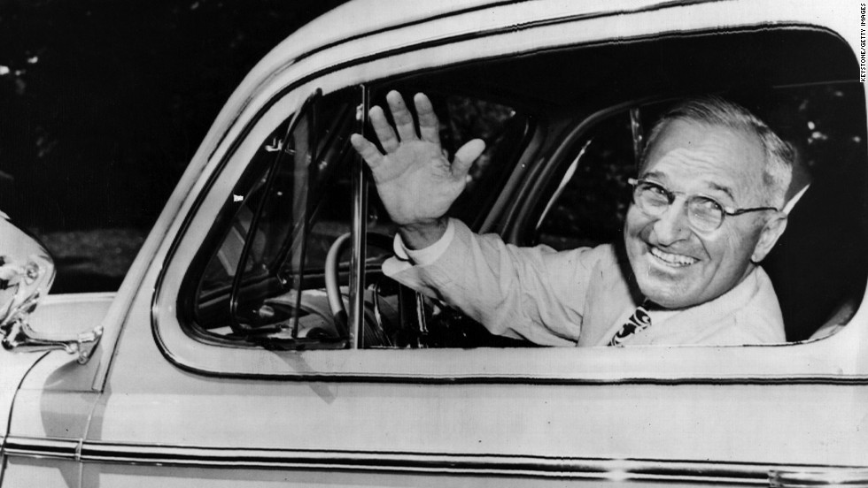 Harry S. Truman (1945-1953) served as vice president for 82 days before the unexpected death of Roosevelt. He authorized the use of two atomic bombs on the Japanese cities of Hiroshima and Nagasaki.