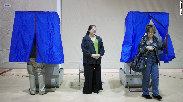 Voters cast their ballots in April in Pennsylvania, where a new voter ID law has been blocked by a judge.