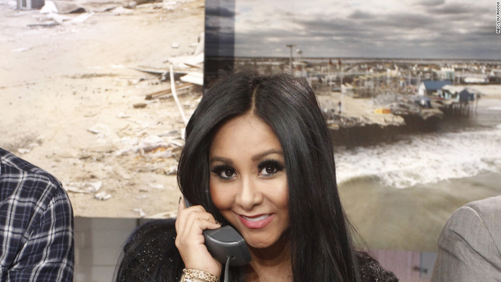 "Snooki participates in ""Good Morning America's"" A Day of Giving benefit for victims of Superstorm Sandy."
