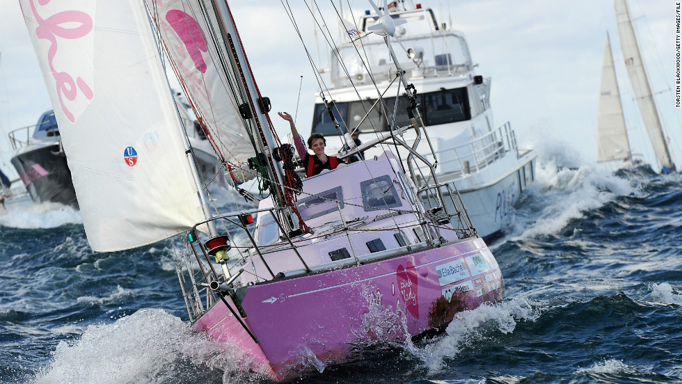 Yrvind's one-and-a-half-ton boat is a drop in the ocean compared to the 15-ton yacht sailed around the world by  Australian teenager Jessica Watson in 2010