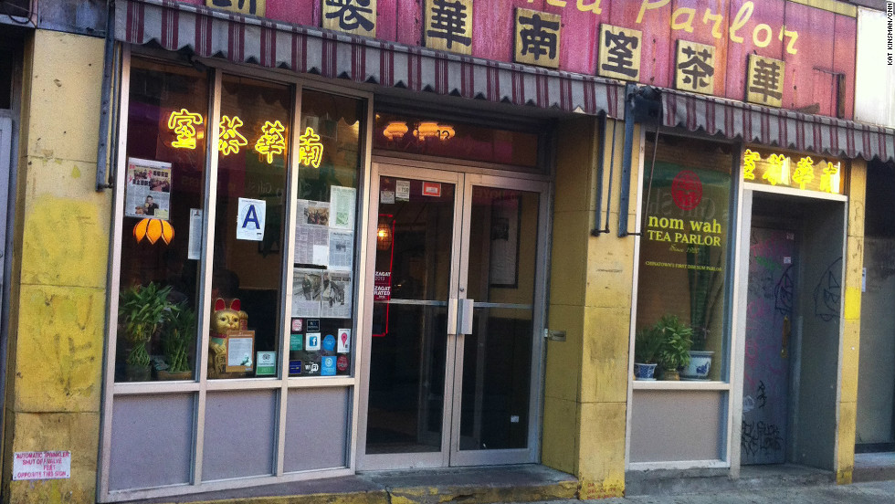 Nom Wah on Doyers St. was serving up a bustling dim sum business, with only a few items missing from the regular menu.