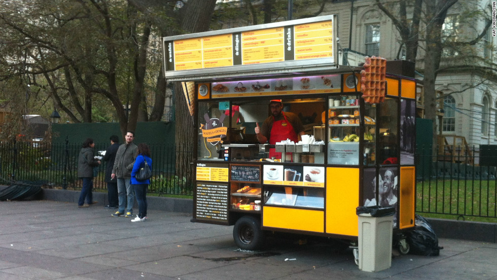 The Wafels and Dinges truck reopened for service on Wednesday, when most downtown businesses were still without power.