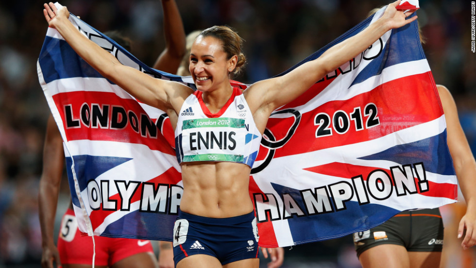 "Jessica Ennis beat her closest opponent in the 2012 Olympic heptathlon event <a href=""http://www.telegraph.co.uk/sport/olympics/athletics/9452762/Jessica-Ennis-crowns-stunning-Olympic-gold-medal-heptathlon-victory-with-blistering-800m-run.html"" target=""_blank"">by more than 300 points</a>. <a href=""http://www.dailymail.co.uk/news/article-2183583/The-golden-girl-delivers-Jessica-Ennis-crowned-Olympic-heptathlon-champion-winning-800m-jubilant-Olympic-Stadium-crowd.html"" target=""_blank"">Ennis earned her gold medal</a> by participating in the 100-meter hurdles, the high jump, the shot put, the 200-meter race, the long jump, the javelin throw and the 800-meter race."