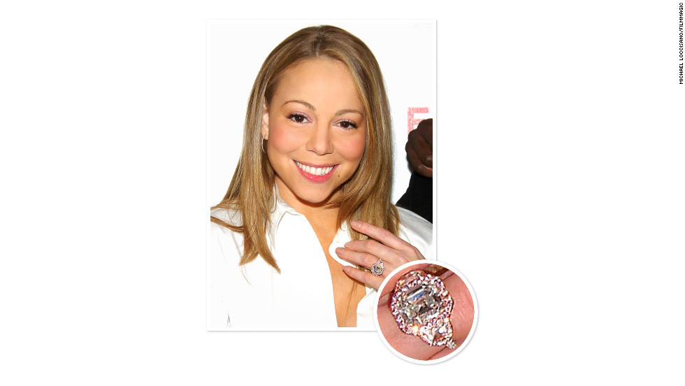 Nick Cannon proposed to pop diva Mariah Carey with a stunning 17-carat emerald-cut pink diamond ring surrounded by 58 pink diamonds. The couple married in 2008.