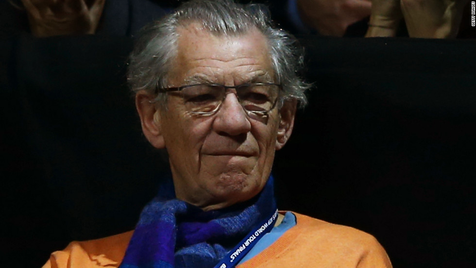Veteran actor Ian McKellen, star of the Lord of the Rings trilogy and the upcoming Hobbit movies, was also in attendance to see defending champion Federer reach the semifinals for the 10th time in 11 appearances at the ATP finals.