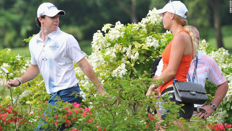 "McIlroy took a break last week to watch Wozniacki's final tournament of the year, and she returned the compliment as he returned to action following his ""Duel at Jinsha Lake"" against Tiger Woods."