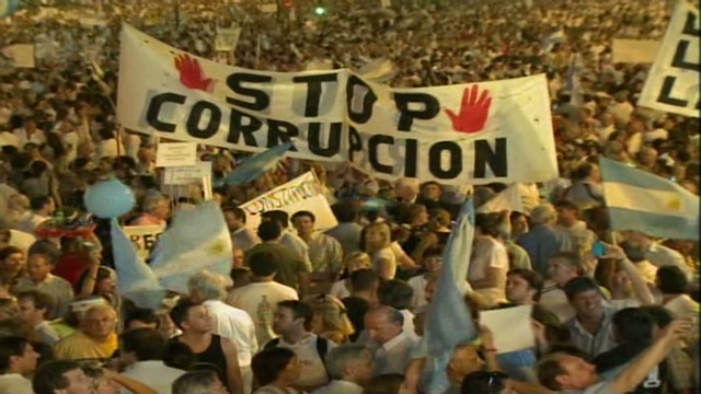 Anger in Argentina over government