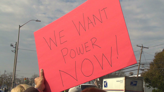 Customers protest at Long Island Power