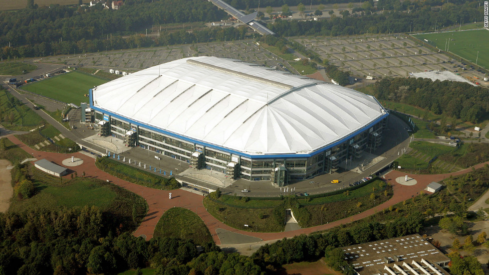 Schalke's Veltins-Arena was built in the run-up to the 2006 World Cup and can hold over 65,000 fans.