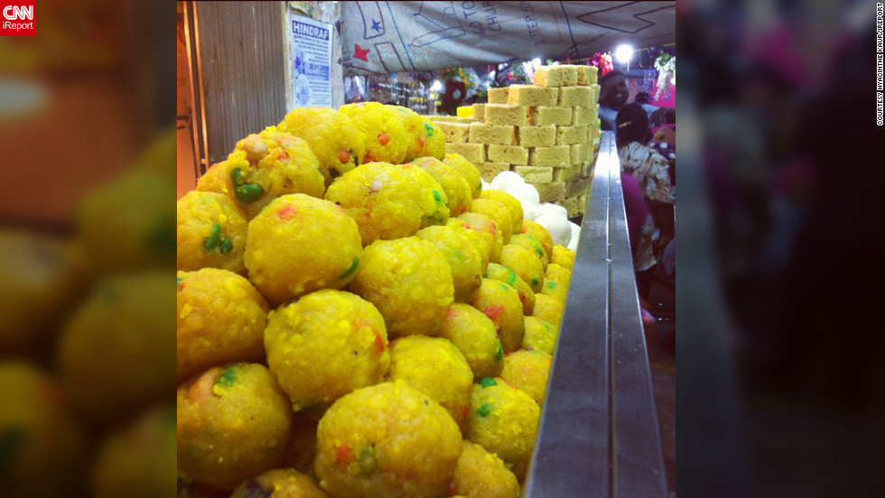 "This image captured by <a href=""http://ireport.cnn.com/people/Hyacinth3"">Hyacinthe Kaur</a> shows a selection of Diwali sweets on display at a market in the city of Klang, Malaysia. ""The Festivals of Lights is a joyous occasion where people come together to dance, sing, eat delicious Indian food, embrace culture, share, worship, smile, shop and experience a burst of colors,"" she says."
