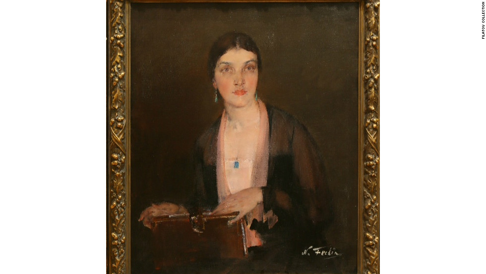 This is a Nicolai Fechin piece called ``Alexandra,'' which is a portrait  of the painter's wife.