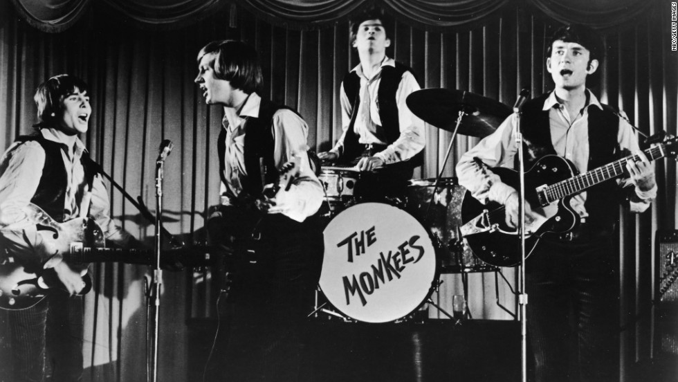 "Davy Jones, Peter Tork, Mickey Dolenz and Michael Nesmith of The Monkees, the band created for the 1960s TV series of the same name, won the hearts of fans with hits like ""I'm a Believer,"" ""Pleasant Valley Sunday"" and ""Daydream Believer."""