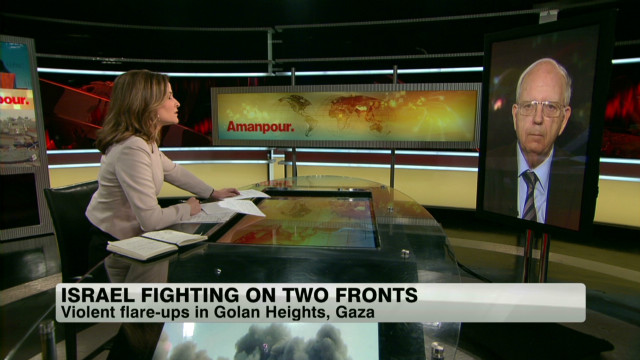 Military activity on two Israeli fronts