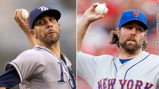 David Price of the Tampa Bay Rays and R.A. Dickey of the New York Mets were voted the best pitchers in the majors.