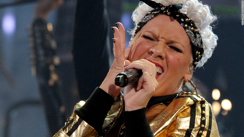 "Pink performed ""Raise Your Glass"" in 2010."