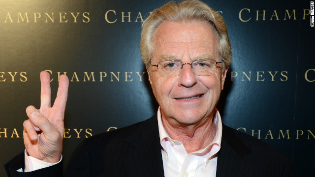 Jerry Springer attends BritWeek 'An Evening With Piers Morgan, In Conversation With Jackie Collins' benefiting Children's Hospital Los Angeles at the Beverly Wilshire Four Seasons Hotel on May 4, 2012.