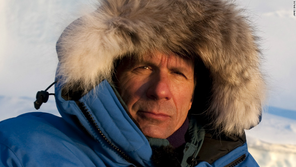 "James Balog, director of the Extreme Ice Survey, at minus 30 degrees F, Disko Bay, Greenland, March 2008. ""What we need is a greater political and public understanding of the immediacy and reality of these changes. I believe that this film can help shift public perceptions by telling people a story that is real and happening now,"" says Balog. <em>C<em></em>ourtesy of James Balog</em></em><em>"