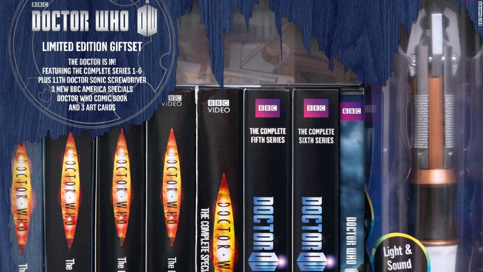 "He's been traveling through time for more than a half-century, but it seems like it's only in the last few years that ""Doctor Who"" has gotten some overdue respect. This collection includes the Doctors played by Christopher Eccleston, David Tennant and Matt Smith as well as extras such as a sonic screwdriver (the Doctor's Swiss army knife) and art cards. (BBC Warner, 41 DVDs)"